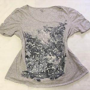 Gray 100% cotton top size M